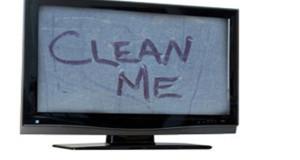 کوتاهترین راه برای تمیز کردن تلویزیون های جدید
