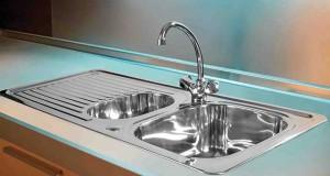 راههایی ساده برای تمیز کردن سینک ظرفشویی
