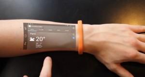 با دستبند Cicret ساعد خود را تبدیل به تلفن همراه هوشمند کنید