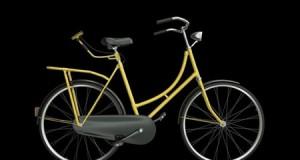 دوچرخه ای با علائم راهنمایی