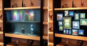 پرده برداری از نمونه ی اولیه ی تلویزیون برند پاناسونیک با صفحه شفاف در نمایشگاه CES 2016