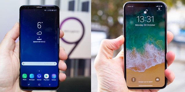 گوشی موبایل سامسونگ گلکسی اس ۹ پلاس یا آیفون ایکس؟ کدامیک بهترند؟